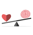 Balance between heart and brain vector image vector image