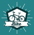 bike ride is good design card style vector image vector image