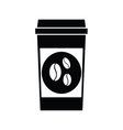 black coffee icons vector image vector image