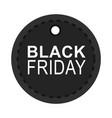 black friday dark round tag shop announce icon vector image vector image