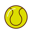 brightly tennis ball cartoon vector image vector image