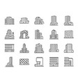 building line icon set vector image vector image