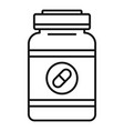 capsule sport nutrition icon outline style vector image