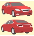 car two view front and back vector image vector image