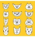 Cartoon cats set vector image