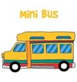 Cartoon mini bus collection stock vector image vector image