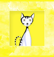 cat graphic paper cut vector image vector image