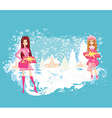 Christmas shopping - winter sale card vector image vector image
