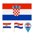 Croatia country flag vector image vector image