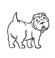 dog drawn in ink style vector image
