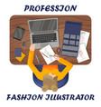 fashion at work workplace clothes designer vector image vector image