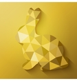 Flat design polygon of golden Easter Bunny vector image vector image