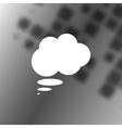 Flat paper cut style icon of thought cloud vector image vector image
