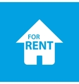 For rent white icon vector image vector image