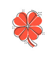 four leaf clover icon in comic style st patricks vector image vector image