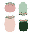 frame set with floral ornament in colorful vector image vector image