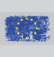 grunge old european union flag vector image vector image