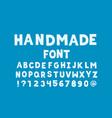 handmade font alphabet vector image vector image