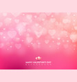 happy valentines day with shining heart bokeh on vector image vector image