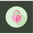 heart padlock open in circle icon flat design vector image vector image