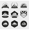 High mountain logo set vector image vector image