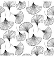 japanese gingko beautiful background vector image vector image