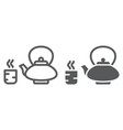 japanese tea line and glyph icon asian and drink vector image