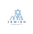 jewish community people family logo icon vector image vector image