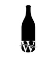 Last drop of wine- Logo concept for wine business vector image vector image