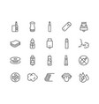 line vape icons vector image vector image