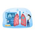 lungs examination concept vector image