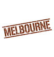 Melbourne brown square stamp vector image vector image