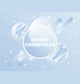 merry christmas christmas balls with a gradient vector image vector image
