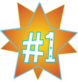 Number one Stars vector image