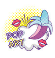 pop art funny cartoons vector image vector image