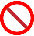 prohibition no symbol vector image vector image