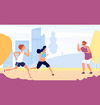 running training female running competition vector image