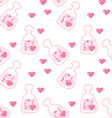 seamless love potion texture vector image vector image