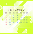 september 2019 calendar leaf vector image