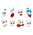 set emoji template emotion collection design vector image