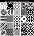SET OF DIFFERENT SEAMLESS PATTERNS vector image vector image