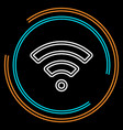 simple wifi thin line icon vector image