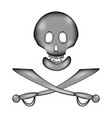 skull and bones danger sign sign icon vector image vector image