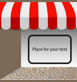 store striped awning tent layout with vector image