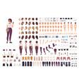 stylish girl animation kit or creation set bundle vector image vector image