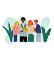 successful people celebrating victory group of vector image