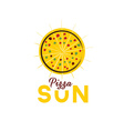 sun pizza vector image vector image