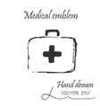 The medical first aid bag icon vector image vector image