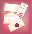 Valentine envelop and card vector image