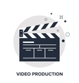 video production concept vector image